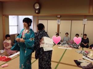 中野島浴衣講習3