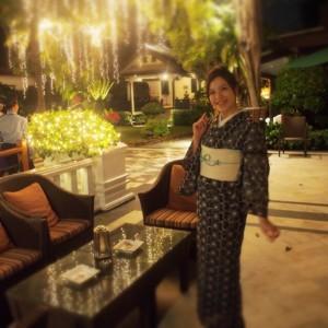 タイ 着物のコーディネート