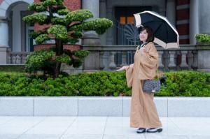 雨の日 東京駅